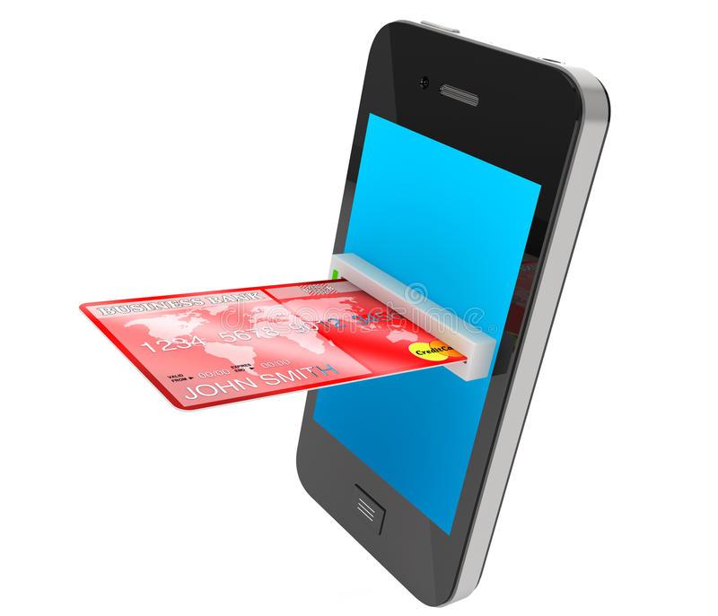 Kreditkorten och mobilen ringer vektor illustrationer