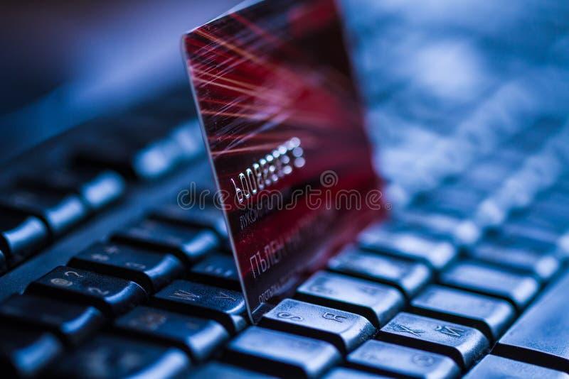 Kreditkorten skrivar på royaltyfri fotografi