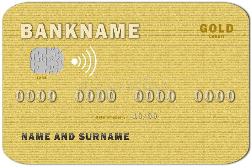 Kreditkortguld royaltyfri illustrationer