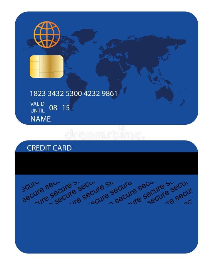 Kreditkort stock illustrationer