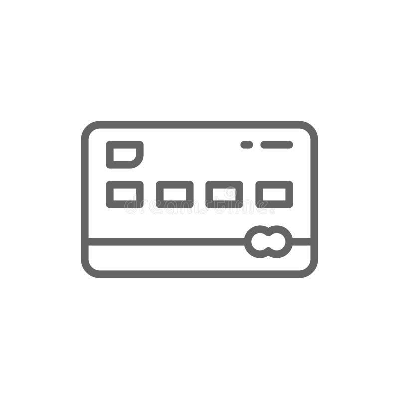 Kreditkortlinje symbol bakgrund isolerad white royaltyfri illustrationer