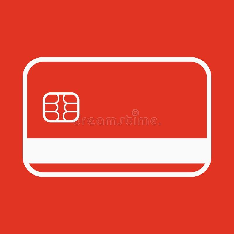 Kreditkortsymbolen Kontokortsymbol royaltyfri illustrationer