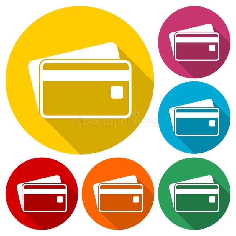Kreditkortsymbolsuppsättning royaltyfri illustrationer