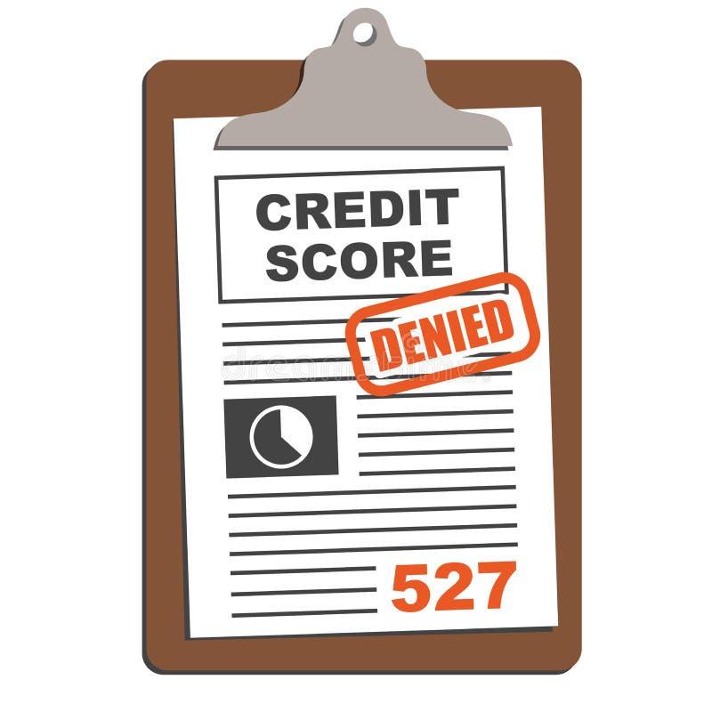 Kreditscore-Bericht lizenzfreie abbildung