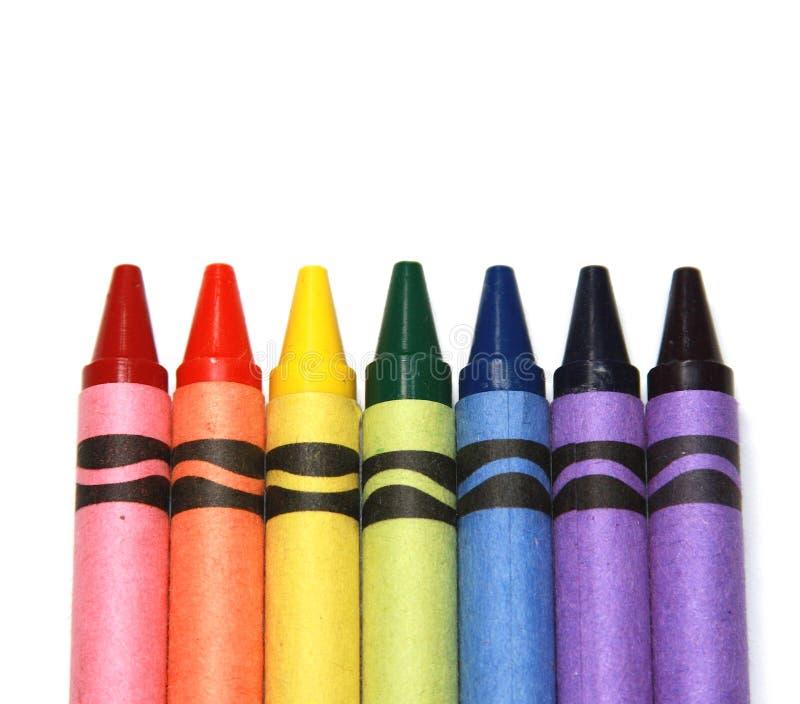 Download Kredki zdjęcie stock. Obraz złożonej z asortyment, kolorowy - 12864370