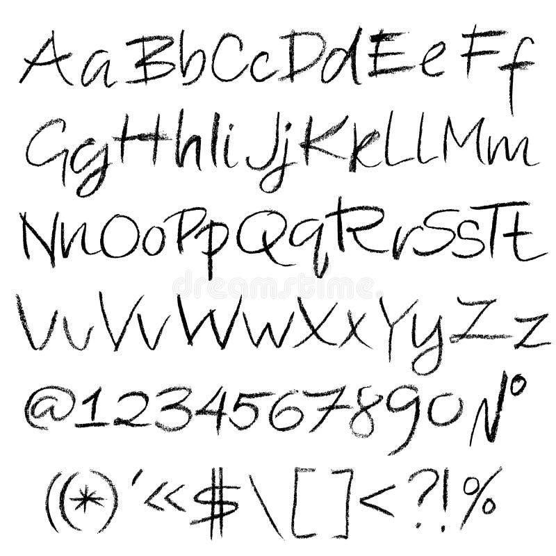 Kredkowa textured chrzcielnica Grunge pismo na białym tle Wektorowa kaligrafii ilustracja ilustracji