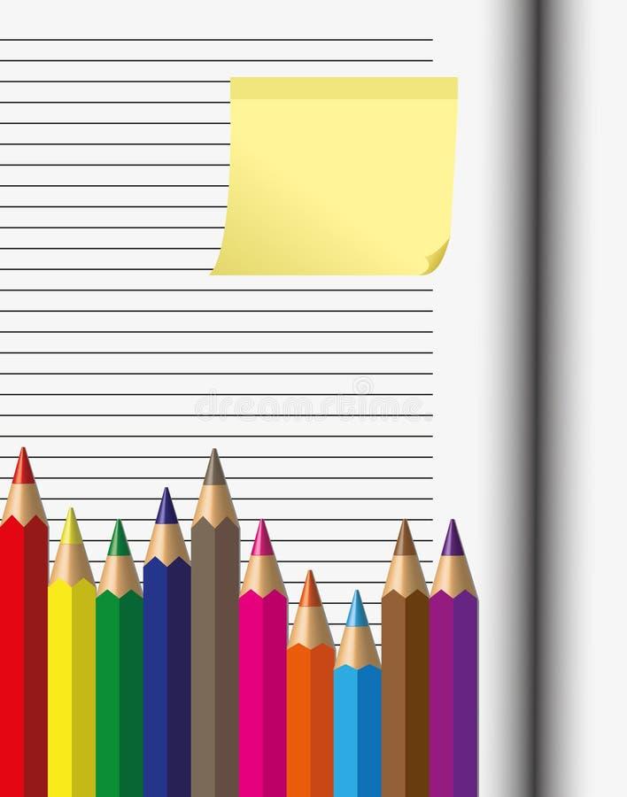kredkowy papier ilustracja wektor