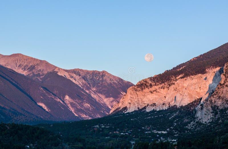 Kredowe falezy Mt Princeton Kolorado zdjęcie royalty free