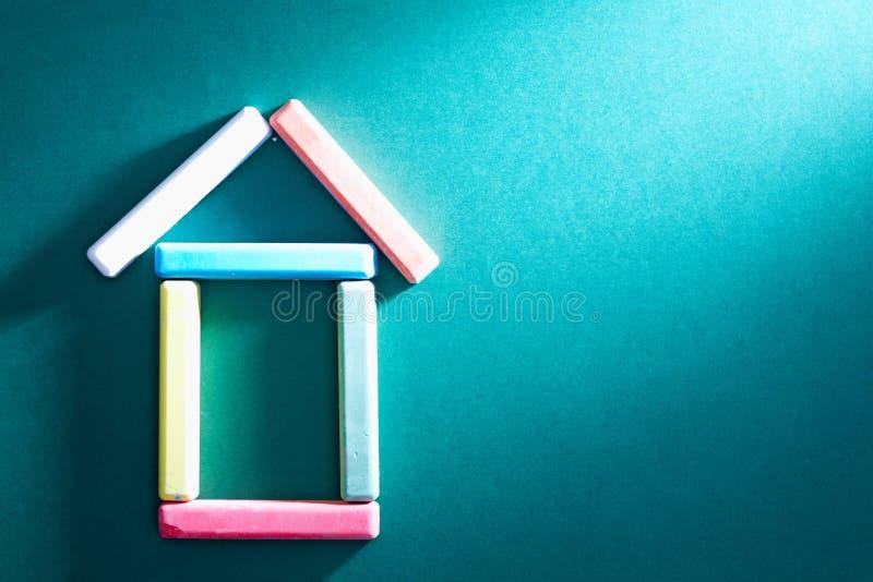 kredowy dom zdjęcia stock