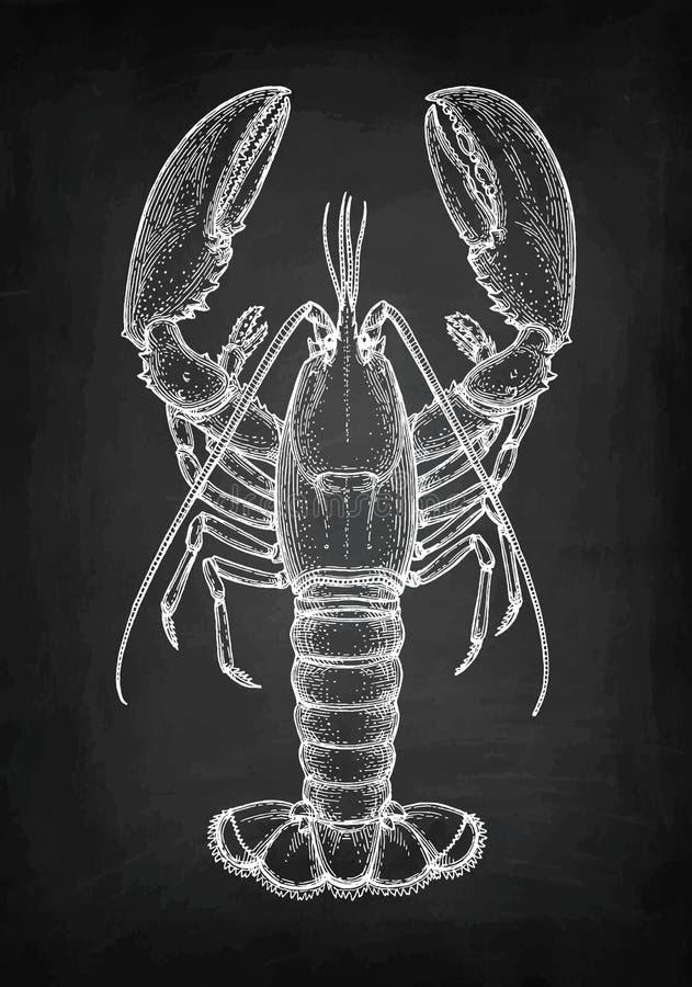 Kredowy nakreślenie homar ilustracja wektor