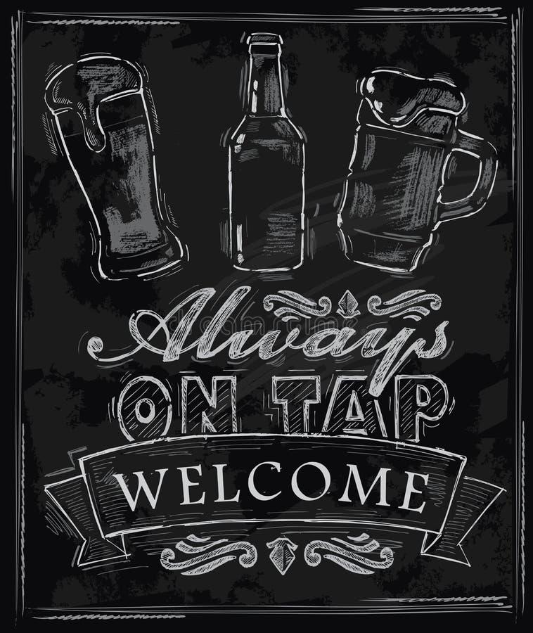 Kredowy piwo ilustracja wektor
