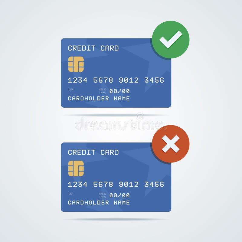 Kredyt, karta debetowa z układem scalonym, liczba, cardholder imię royalty ilustracja