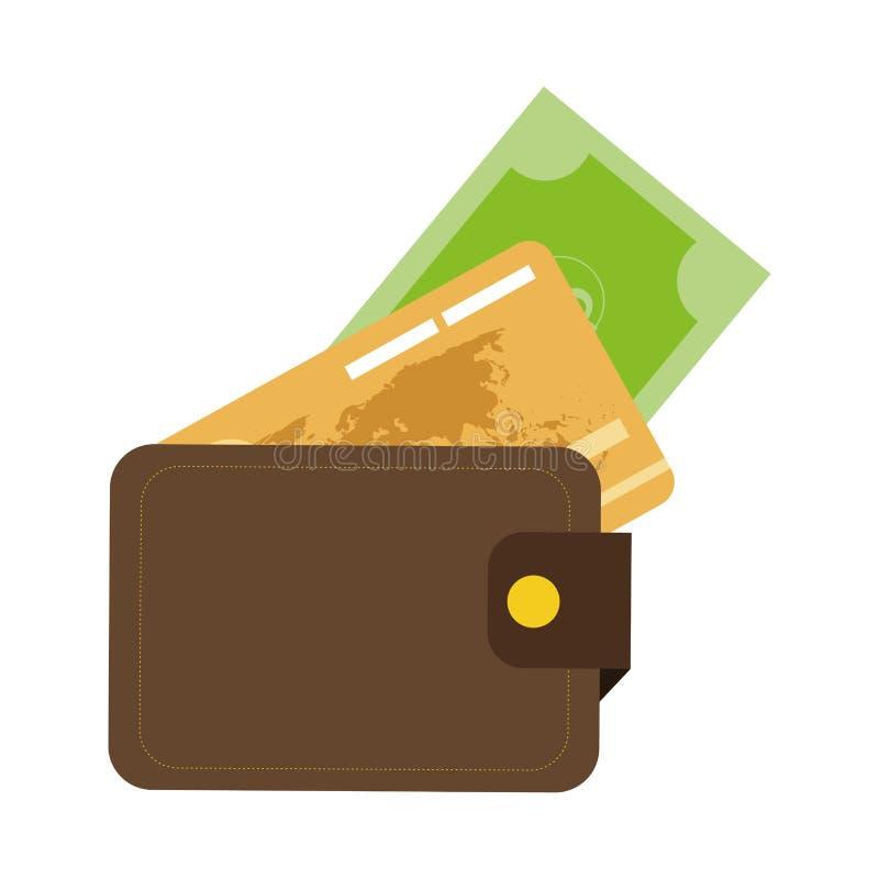 kredyt lub karty debetowej ikona ilustracji