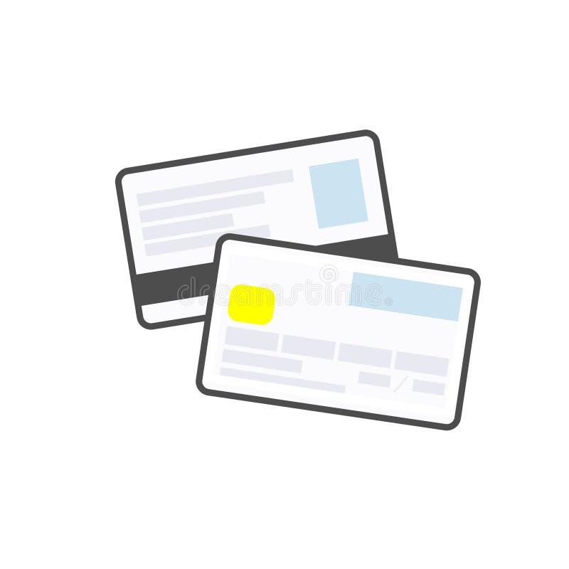 Kredyt lub karty debetowej liniowa nowożytna ikona Płatnicza metoda royalty ilustracja
