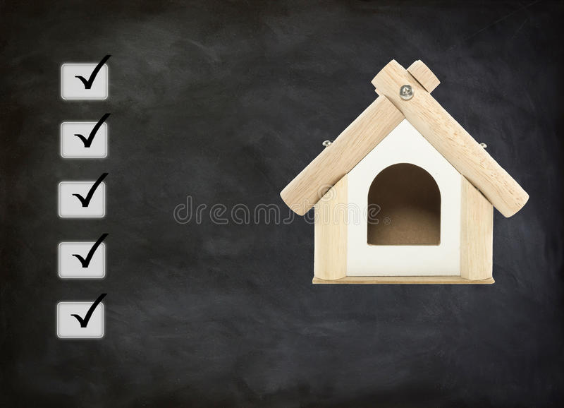 Kredyt mieszkaniowy zatwierdzający zdjęcia stock
