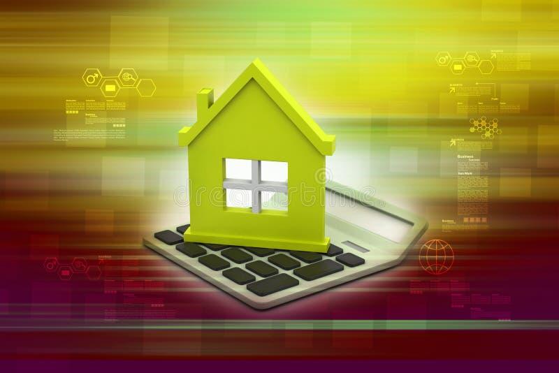 Kredyta mieszkaniowego pojęcie royalty ilustracja