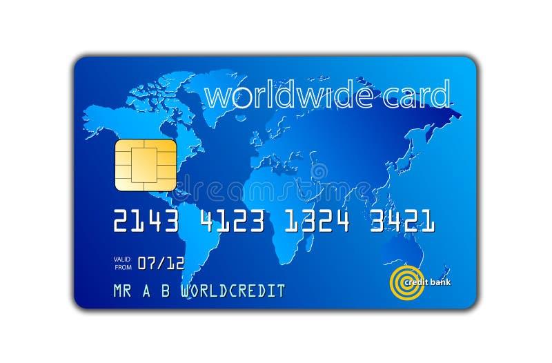 Kredytowa karta royalty ilustracja