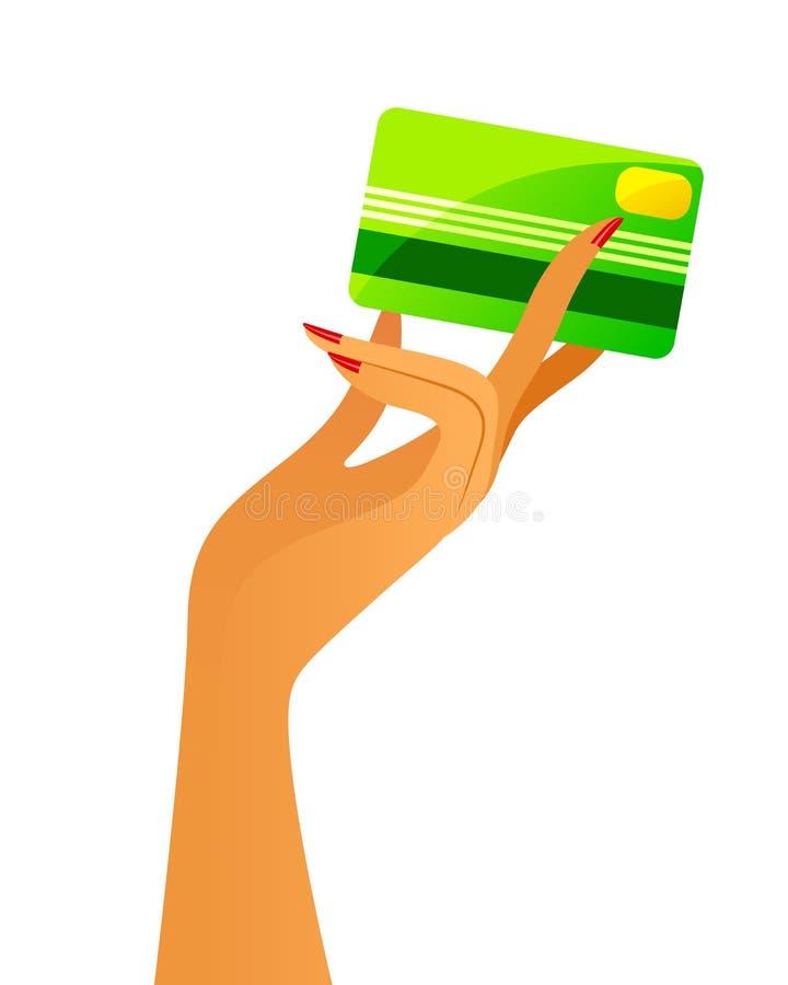 Download Kredytowa karta ilustracja wektor. Obraz złożonej z kupienie - 31683198