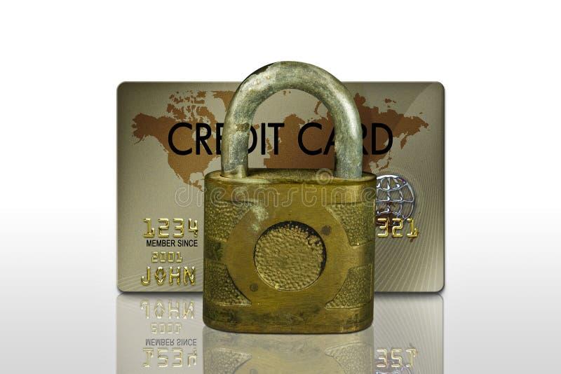 Kredytowa Karta Blokująca Bezpłatne Obrazy Stock