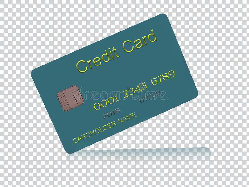Kredytowa karta, płaci używać kredytową kartę ilustracji