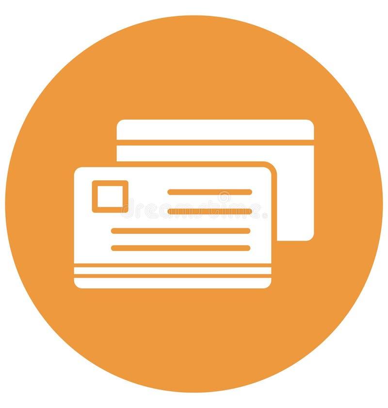 kredytowa karta, wizy karty Odizolowywająca Wektorowa ikona może być łatwo redaguje i modyfikuje ilustracji