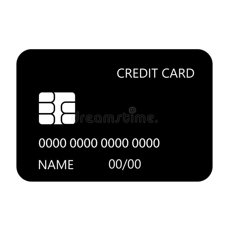 Kredytowa układu scalonego karcianego projekta wektoru ikona ilustracja wektor