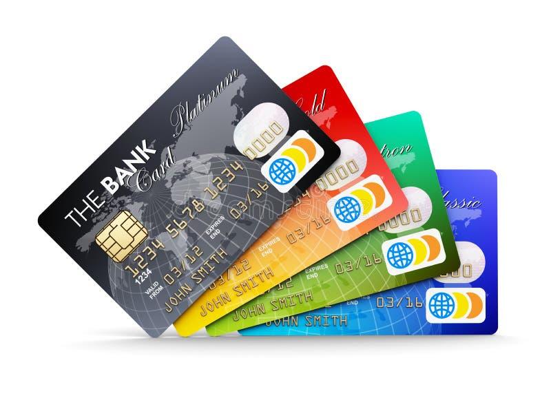 Kredytowe karty ilustracji