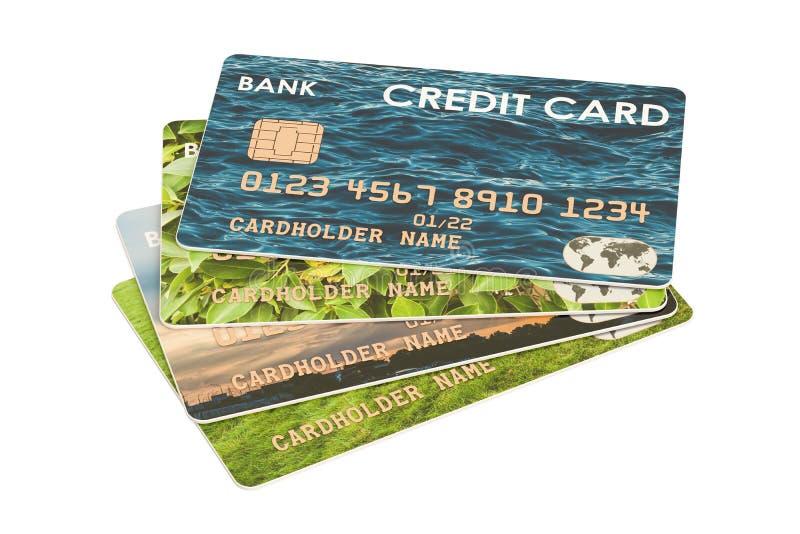 Kredytowe karty, 3D rendering royalty ilustracja