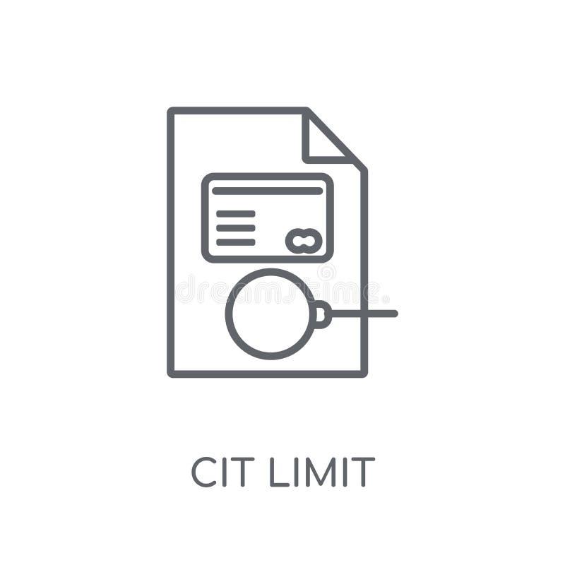 kredytowego ograniczenia liniowa ikona Nowożytny konturu kredytowego ograniczenia logo conce ilustracji