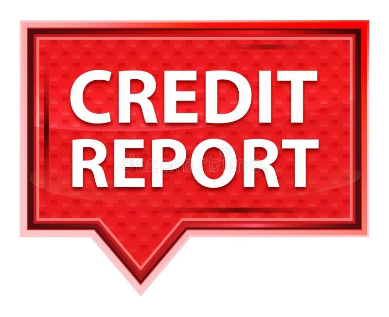 Kredytowego raportu róży menchii sztandaru mglisty guzik royalty ilustracja