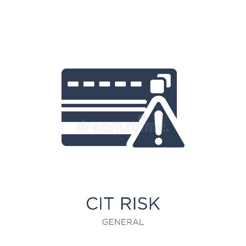 kredytowego ryzyka ikona Modna płaska wektorowa kredytowego ryzyka ikona na biały b ilustracji