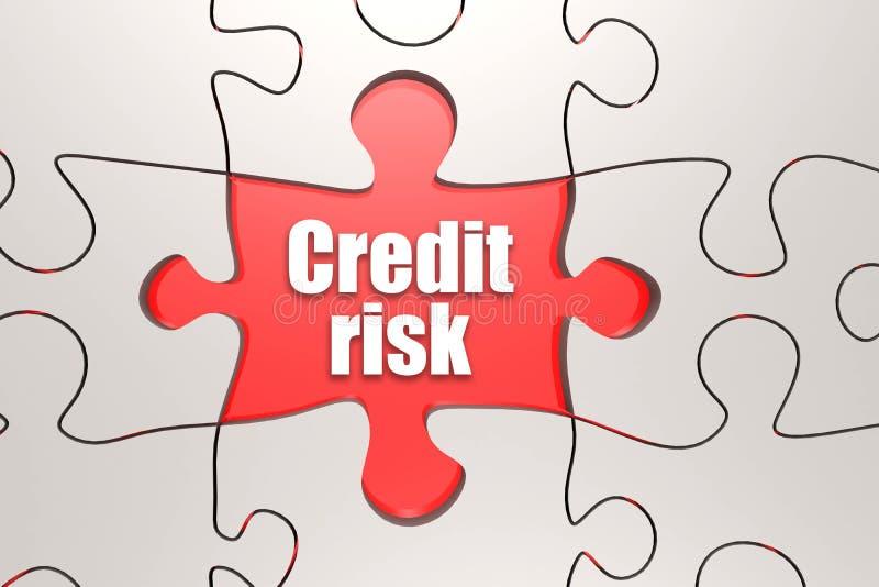 Kredytowego ryzyka słowo na wyrzynarki łamigłówce ilustracji