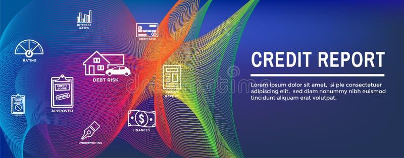 Kredytowego wynika ikony sieci i setu chodnikowa sztandar - mapy lub kulebiaka wykresu w Realistyczna karta kredytowa ilustracja wektor