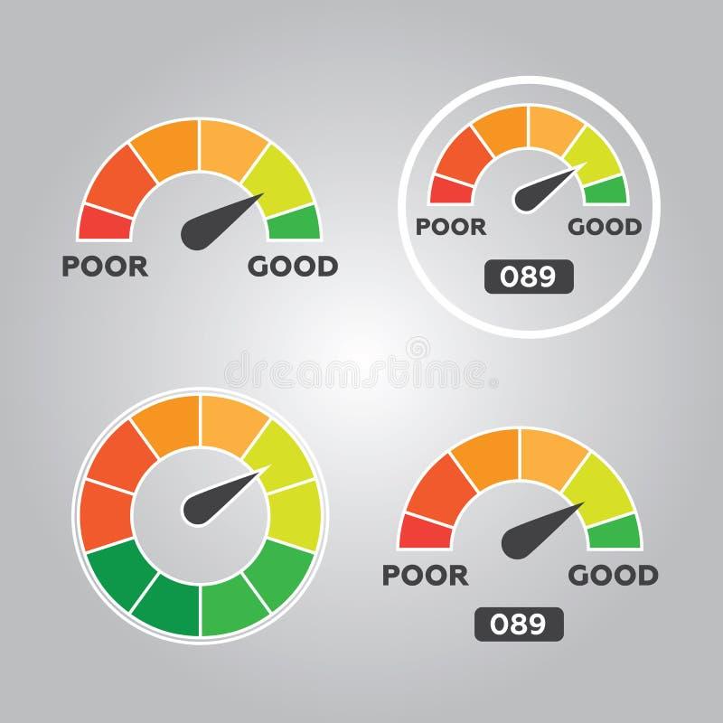 Kredytowego wynika wymierniki i wskaźniki royalty ilustracja
