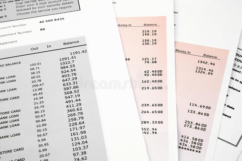 Kredytowej karty banka oświadczenie obrazy royalty free