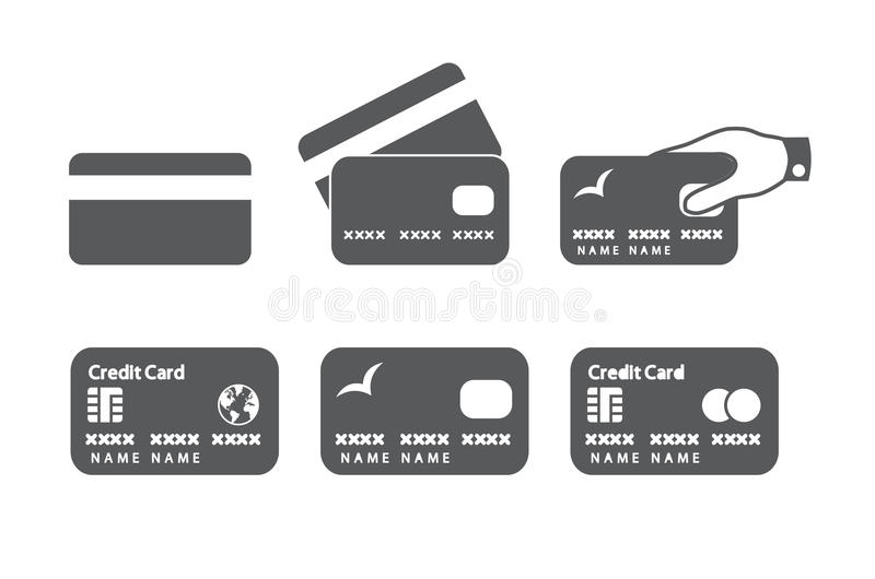 Kredytowej karty ikony obrazy royalty free