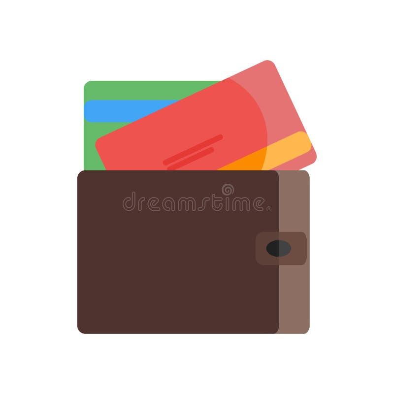 Kredytowej karty ikony wektoru znak i symbol odizolowywający na białym backgr ilustracja wektor