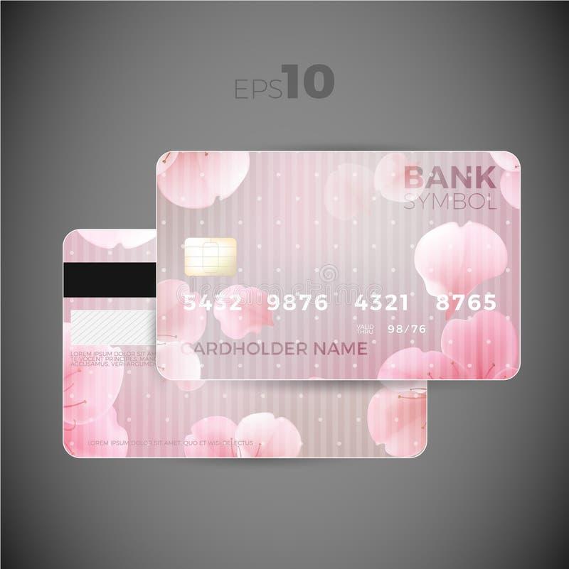 Kredytowej karty kwiatu projekt ilustracji