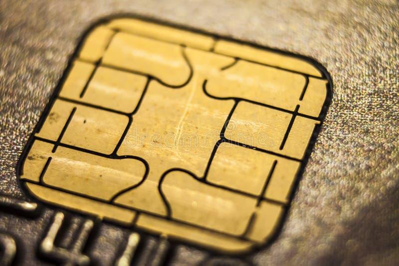 Kredytowej karty Makro- pojęcie obrazy royalty free