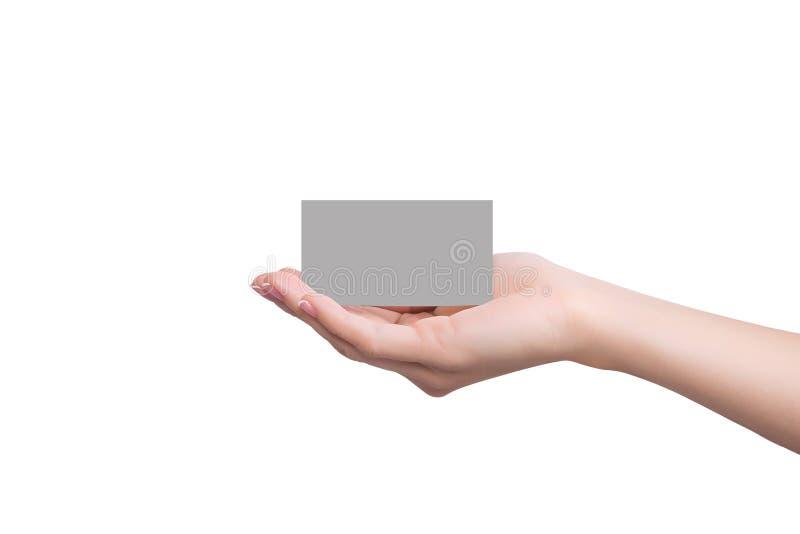 Kredytowej karty mienie w ręce obraz stock