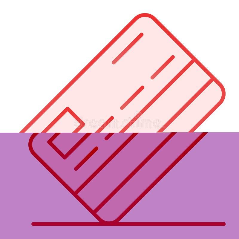 Kredytowej karty mieszkania ikona Zap?at r ilustracji