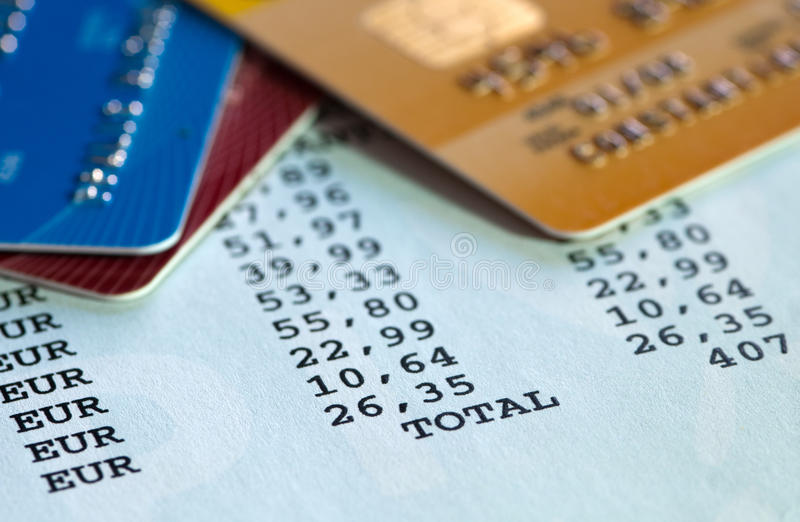 Kredytowej karty oświadczenie obrazy royalty free