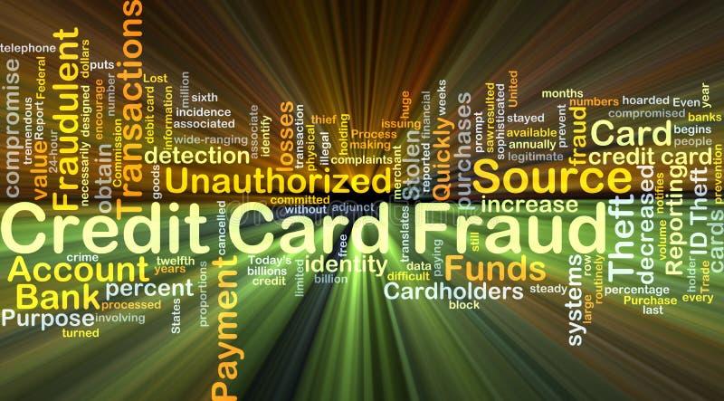 Kredytowej karty oszustwa tła pojęcia jarzyć się ilustracja wektor