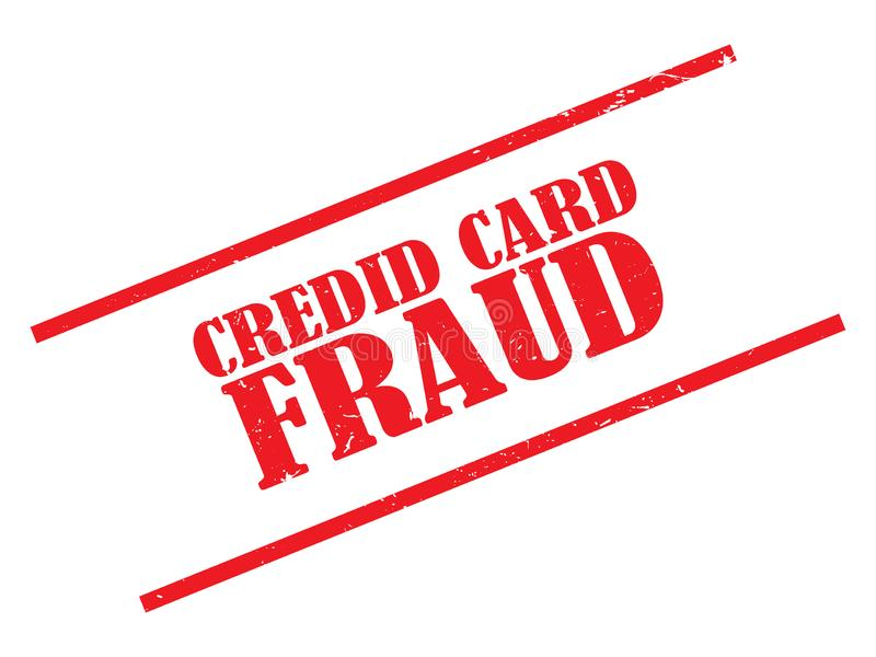 Kredytowej karty oszustwa znaczek ilustracja wektor