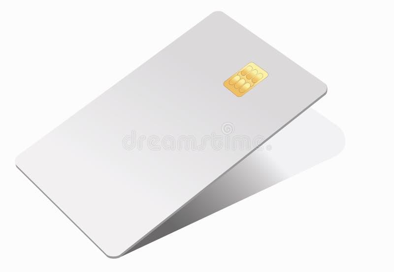 Kredytowej karty realistyczny mockup Biznesu i finanse poj?cie ilustracja wektor