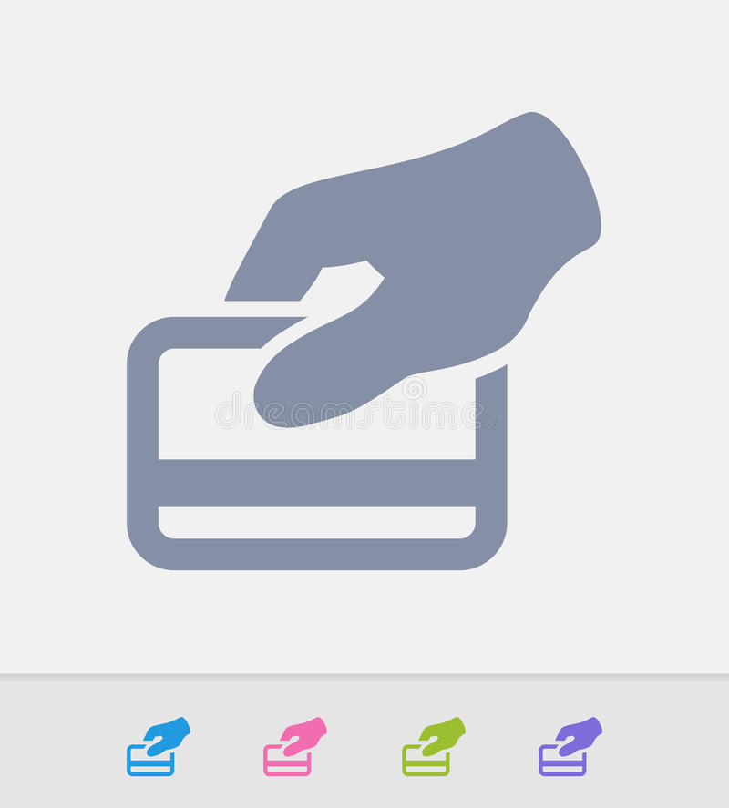 Kredytowej karty zamach - Granitowe ikony fotografia stock