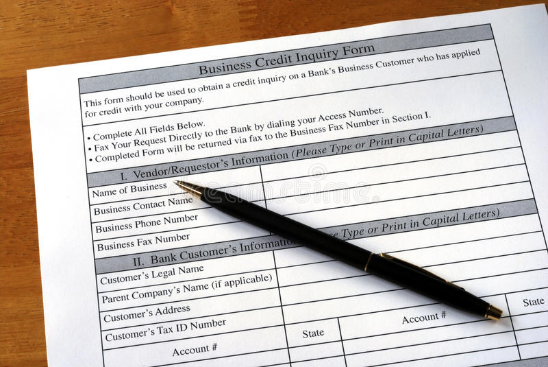 kredytowy biznesu śledztwo robi obraz stock