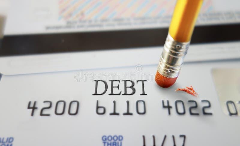 Kredytowy dług obrazy stock