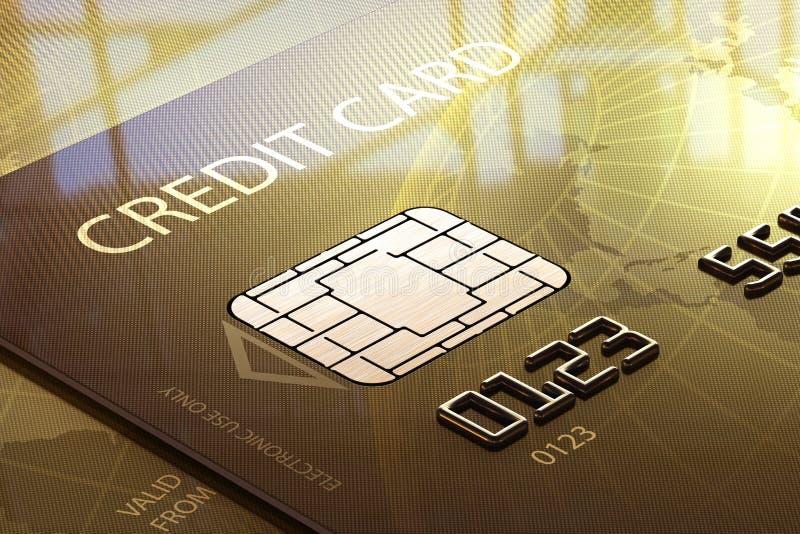 Kredytowy karciany macro ilustracji