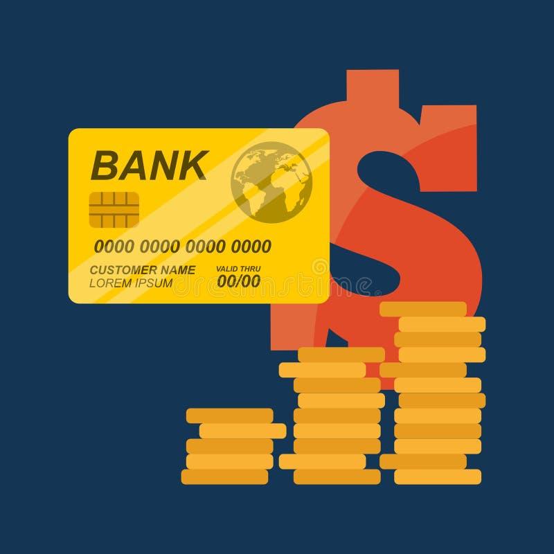 Kredytowy Karciany projekt ilustracja wektor